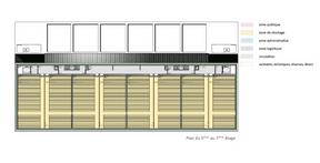 Plan du 5e au 7e étage ((Illustration: Fonds Belval))