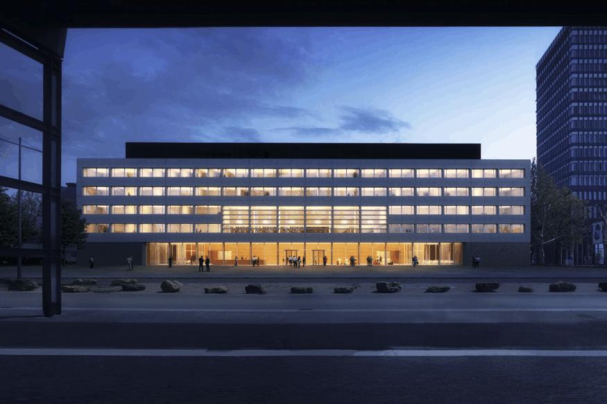 Les nouvelles Archives nationales seront construites à Belval, juste à côté des hauts fourneaux selon une conception de Paul Bretz Architectes. (Illustration: Paul Bretz Architectes)
