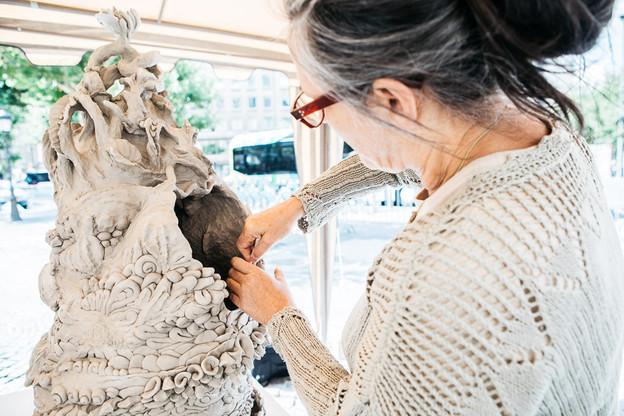 Chaque été depuis 19 ans, la sculpture est mise à l'honneur dans le quartier Gare. (Photo: Maison Moderne)