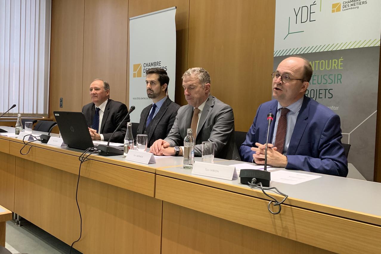 Une enquête présentée par la Chambre des métiers mercredi. (Photo: Paperjam)