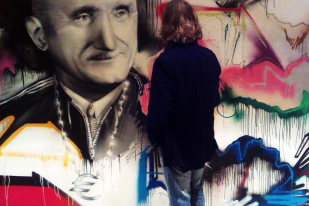 Détail de l'œuvre de Rudolph Schneider lors du prix d'art Robert Schuman en 2013 à Sarrebruck. (Photo: Rudolph Schneider)