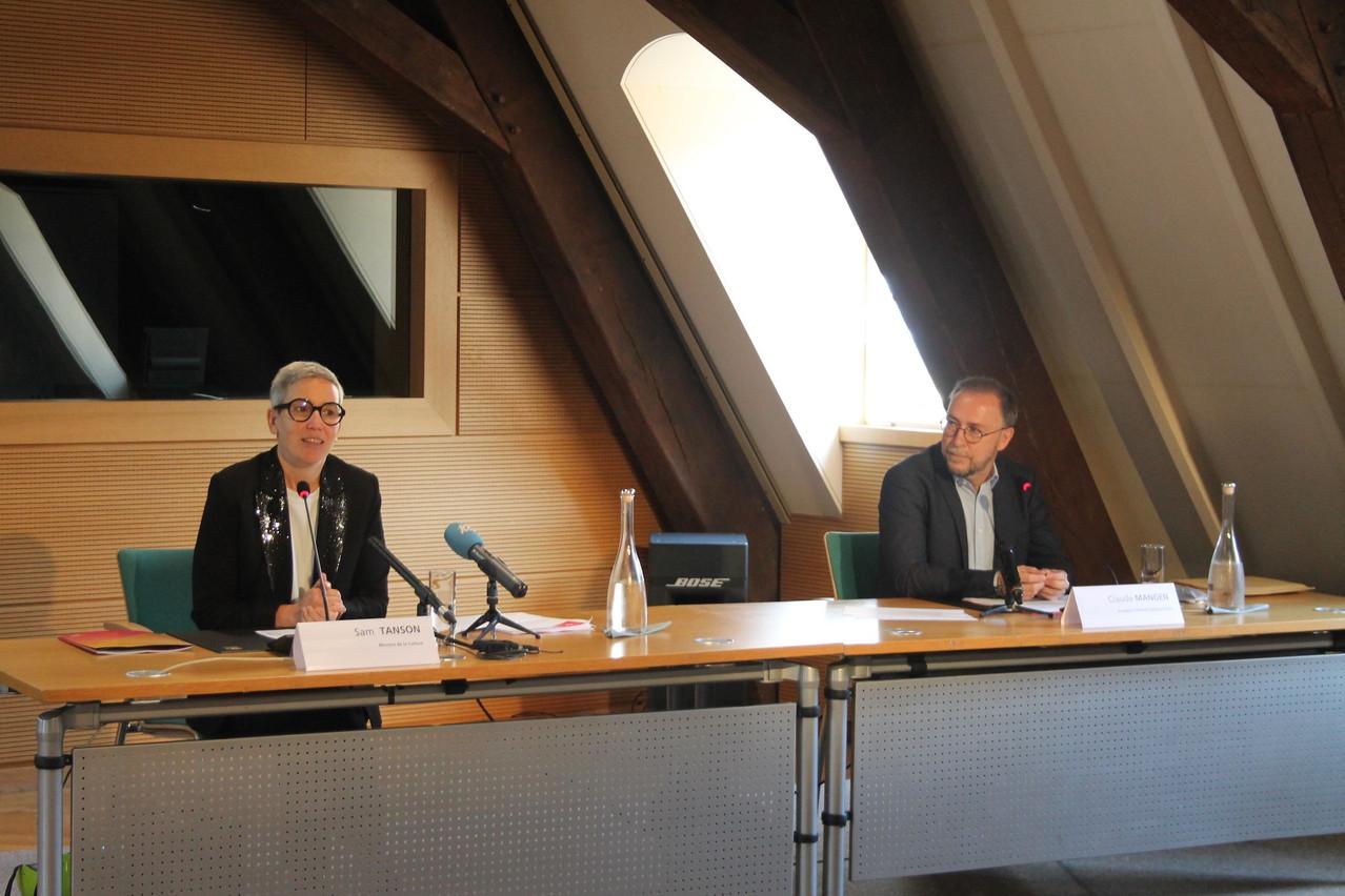 La ministre de la Culture Sam Tanson a détaillé le protocole développé par la Direction de la santé. (Photo: MCULT)
