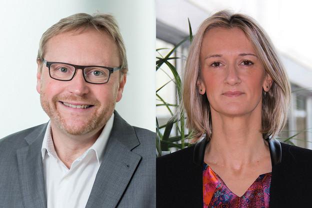 Marc Noirhomme et Marie-Anne Mandroux (Deloitte Luxembourg) analysent les enjeux de la distribution de fonds en Asie. (Photo: Deloitte)