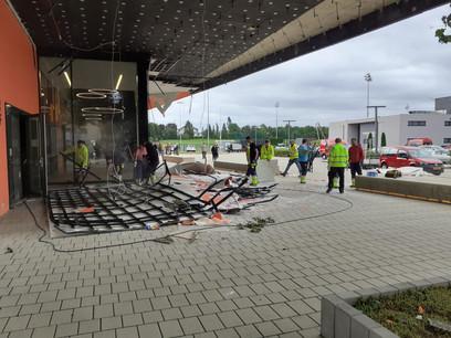 Les assureurs ont déjà dépêché leurs experts sur place pour évaluer les dégâts. (Photo: Paperjam)