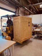La livraison du matériel, avec l'aide des voisins. (Eva Ferranti)