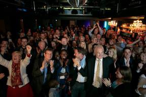 Soirée électorale au sein du DP ((Photo: Matic Zorman))