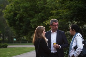 Au centre et à droite, Frank Engel (président du CSV) et Isabel Wiseler-Lima (CSV) ((Photo: Nader Ghavami))