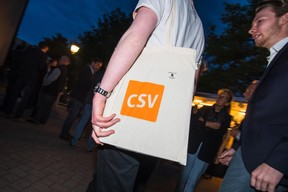 Soirée électorale au sein du CSV ((Photo: Nader Ghavami))