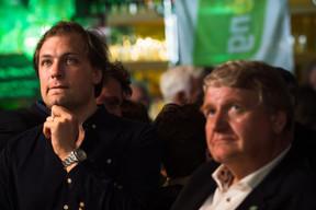 François Benoy (Déi Gréng) et Christian Kmiotek (coprésident Déi Gréng) ((Photo: Nader Ghavami))