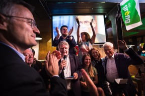 Félix Braz (vice-Premier ministre), Christian Kmiotek, Meris Sehovic, Tilly Metz et Martin Kox (Déi Gréng) ((Photo: Nader Ghavami))