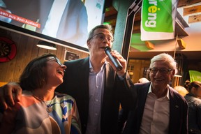 Tilly Metz, Félix Braz et Martin Kox (Déi Gréng) ((Photo: Nader Ghavami))