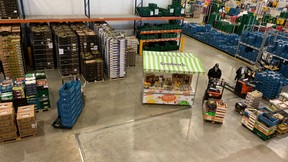 Two rounds leave daily from the Grosbusch depot in Ellange,for Auchan Luxembourg. (Photo: Paperjam)