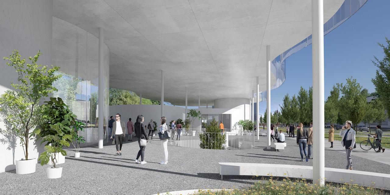 Le rez-de-chaussée restera accessible à tous grâce à une architecture sur pilotis. (Illustration: SANAA)