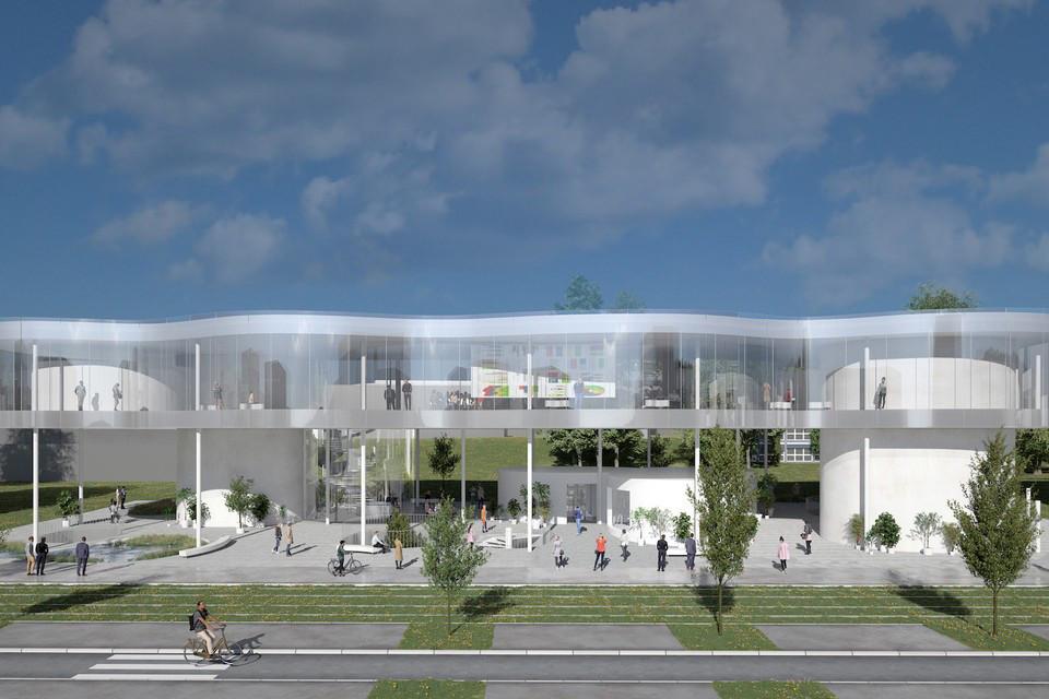 Le nouvel auditorium de l'Université du Luxembourg au Kirchberg sera signé SANAA. (Illustration: SANAA)