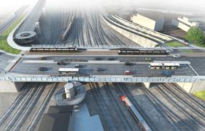 Vue du pont tel qu'il sera après les travaux. ((Illustration: Schroeder & Associés))