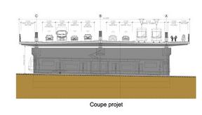 Coupe du pont après travaux. ((Illustration: Schroeder & Associés))