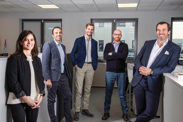 Devenu CEO de Maps System en octobre, Jean-PierreSchmit (ici à droite) a mis en place une direction à cinq têtes pour continuer à voir la start-up, née il y a 12ans, croître. (Photo: Maps System)