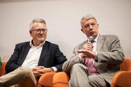 Nicolas Schmit (LSAP) et Fernand Kartheiser (ADR) (Photo: Jan Hanrion / Maison Moderne)