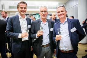 Daan Abrahams (Cording Real Estate Group), Johan Theunis (Pylos) et Fabrice Bayot (Bureau d'Etude CES) ((Photos: Vincent Remy pour CBRE))