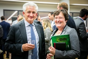 Herbert Weynand (Group Wagner) et Astrid Schlesser (Banque de Luxembourg) ((Photos: Vincent Remy pour CBRE))