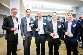 Grégoire Winckler (BPI Real Estate), Guillaume Capellini (CBRE), Guillaume Pellegrino (CBRE), Olivier Guilloteaux (Atenor) et Pierre-Antoine Chapusot (CBRE) ((Photos: Vincent Remy pour CBRE))
