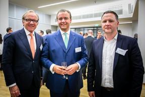 Michael Nitz (Drooms), Rodolphe De Blieck (CBRE) et Guillaume Binet (Iko Real Estate) ((Photos: Vincent Remy pour CBRE))