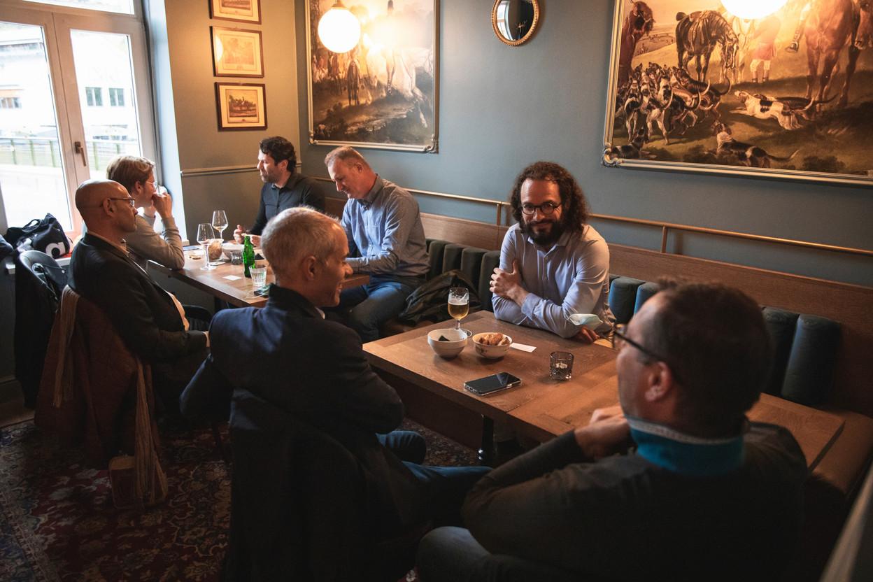Brian Bovi (Vingineers), Alexandre Gheysens (Optim2), Thierry Manconi (Thierry Manconi), François Dolisy (4i),  Alain Vanderhoeght (SSTL), Antoine de Rive (Elis Luxembourg) et Hervé Collignon (e-TIC) (Photo: Simon Verjus/Maison Moderne)
