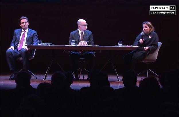 Retour en images sur le débat entre Nicolas Buck (UEL) et Nora Back (OGBL). (Capture d'écran vidéo)