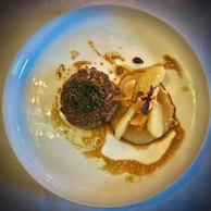 Tartare aller-retour, topinambour et caviar Aquatir. (Maison Moderne)