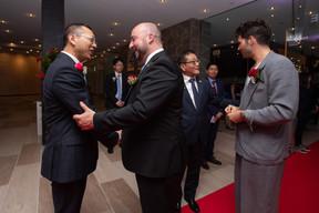 Étienne Schneider (Ministre de l'Économie) et Jérôme Domange (Bank of China) ((Photo: Nader Ghavami))