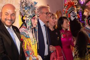Étienne Schneider (Ministre de l'Économie), Pierre Gramegna (Ministre des Finances), Lydie Polfer (Bourgmestre de la Ville de Luxembourg) et Lihong Zhou (Bank of China) ((Photo: Nader Ghavami))
