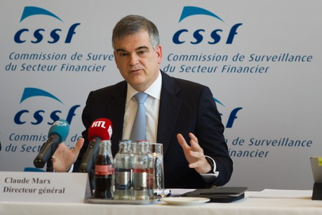 Claude Marx a vu son mandat à la tête de la CSSF prolongé jusqu'en février 2026 . (Photo: Maison Moderne/Nader Ghavami)