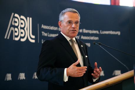 Guy Hoffmann, président de l'ABBL, espère que la crise économique ne contaminera pas le secteur financier. (Photo: Matic Zorman/Archives)