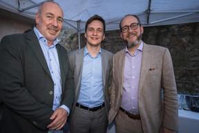 Max Dörner (ministère des Finances) au centre et Bob Kieffer (ministère des Finances), à droite ((Photo: Nader Ghavami))