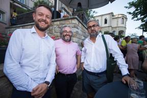 Mike Sergonne (Nvision), au centre et Mike Koedinger (Maison Moderne), à droite ((Photo: Nader Ghavami))