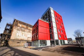 Le bâtiment administratif d'Esch2022 - Capitale européenne de la Culture à Belval a été livré. (Photo: Fonds Belval)