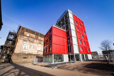Le bâtiment administratif d'Esch2022 – Capitale européenne de la culture à Belval a été livré. (Photo: Fonds Belval)