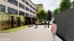 Le niveau inférieur par rapport à la rue sera aménagé en rez-de-jardin pour la nouvelle entrée. ((Illustration: Belvedere Architecture))