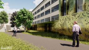 Une liaison avec le parc voisin offrira une zone de détente. ((Illustration: Belvedere Architecture))