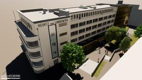 Le bâtiment retrouvera ses lignes historiques et accueillera une extension contemporaine. ((Illustration: Belvedere Architecture))