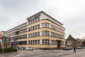 D'ici quelques mois, le bâtiment Landewyck aura retrouvé ses lignes d'origine et accueillera de nouveaux espaces de bureaux. ((Photo: Romain Gamba / Maison Moderne))