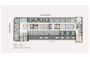 Plan du premier étage après travaux et réaménagement. ((Illustration: Landimmo Real Estate))