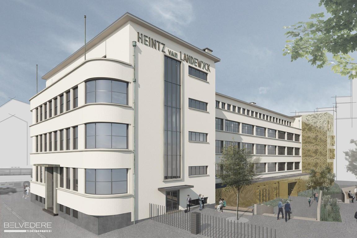 Le bâtiment Landewyck, qui date de 1937, va retrouver une nouvelle jeunesse. (Illustration: Belvedere Architecture)