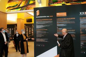 Sam Tanson (ministère de la Culture) et Pierre Hurt (directeur de l'OAI) ((Photo:Matic Zorman / Maison Moderne))