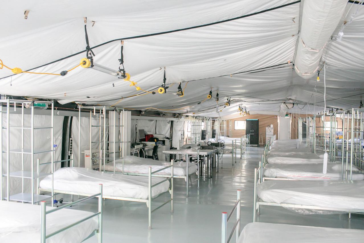 Un «Field Hospital», hôpital de guerre, a été installé à côté du CHL grâce à l'Otan, Cargolux et FélixGiorgetti. (Photo: Matic Zorman)