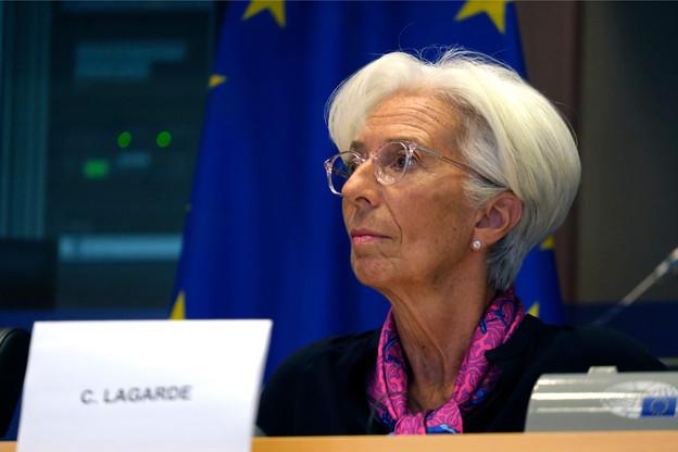 Christine Lagarde, présidente de l'institution, doit rester vigilante sur l'évolution de la situation économique dans la zone euro. (Photo: Shutterstock)