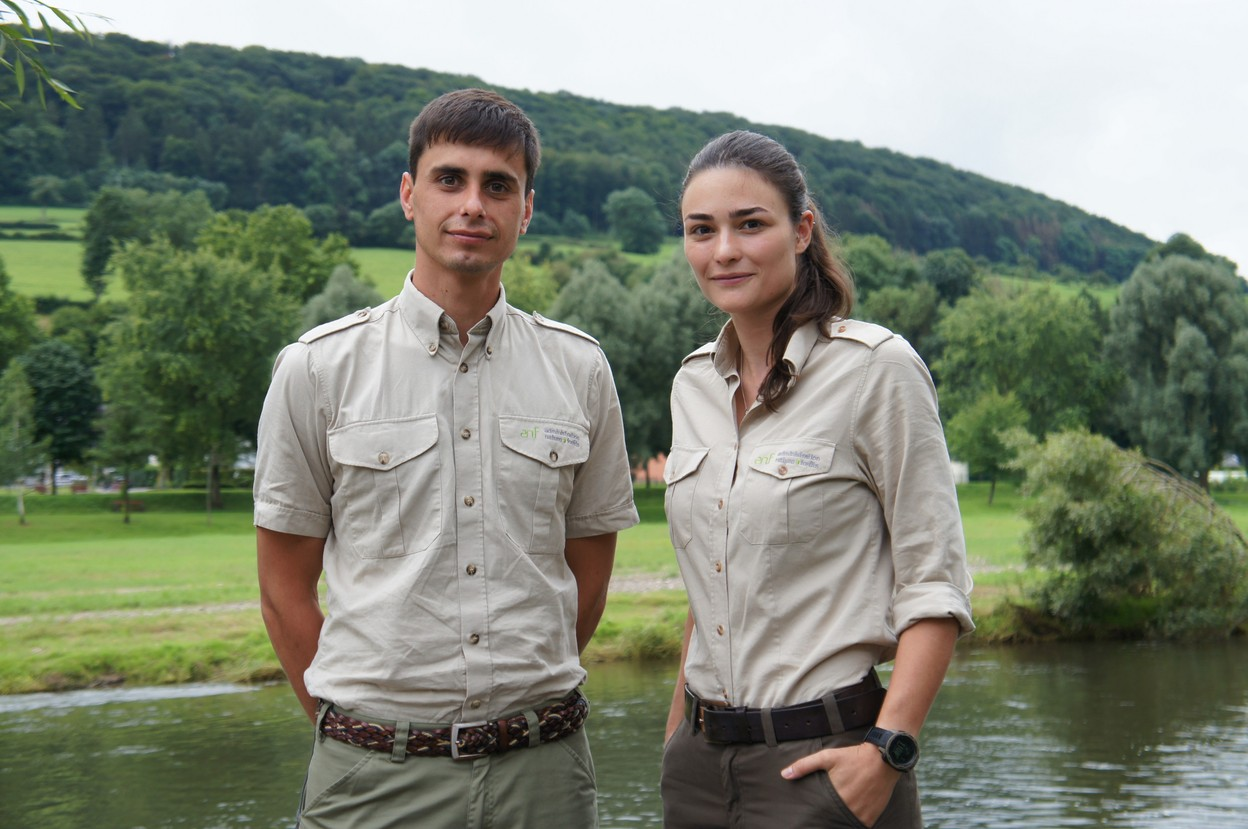 Alexander Kristiansen and Marianne Jacobs of the ANF work to protect beavers and ensure they have a future in Luxembourg Jess Bauldry
