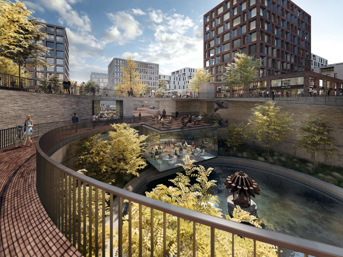 Central Square devrait prendre racine à l'emplacement du parking temporaire du Square Mile. (Photo: Agora)