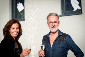 Christine Homan et Bernard de Barsy (ABPLUS) ((Photo: Marie De Decker))