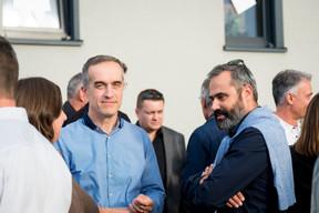 Luc Weber (Georges Reuter Architectes) et Paul Luzio (Georges Reuter Architectes) ((Photo: Marie De Decker))